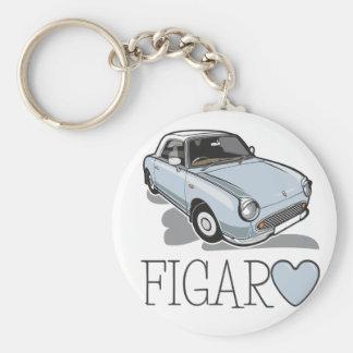 Nissan Figaro Pale Aqua Basic Round Button Key Ring