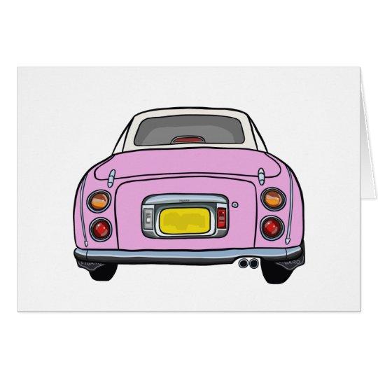 Nissan Figaro - Pink - Blank Greeting Card