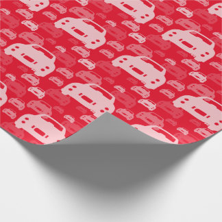 Nissan Figaro silhouette on red wrapping paper
