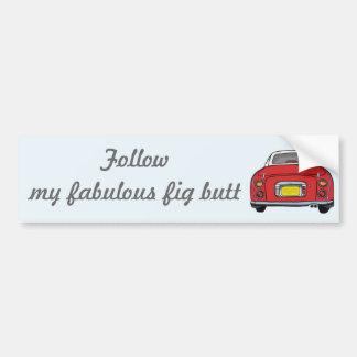 Nissan Figaro - Special Red: Follow my fabulous Bumper Sticker