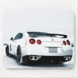 Nissan GT-R White Mouse Pad