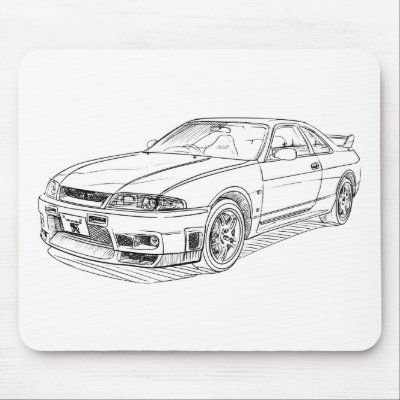 nissan r33 gtr coloring pages - photo#5