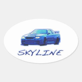 Nissan skyline oval sticker