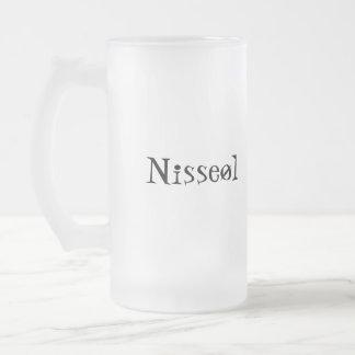 Nisseøl Frosted Glass Beer Mug