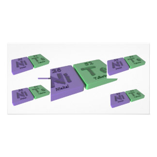 Nite as Ni Nickel and Te Tellurium Customized Photo Card