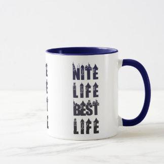 Nite Life Best Life Mug - Colored Gradient