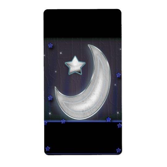 nite moon shipping label