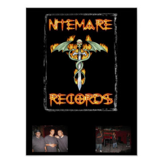 Nitemare Records The Team Poster Large