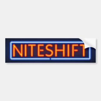 Niteshift Board Sticker Bumper Sticker