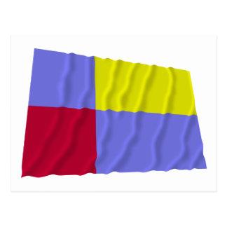 Nitra Waving Flag Postcard