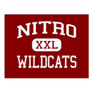 Nitro - Wildcats - High - Nitro West Virginia Postcard
