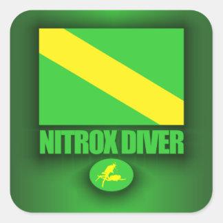 Nitrox Diver Square Sticker