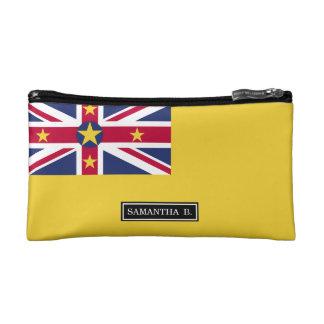 Niue Flag Cosmetic Bags