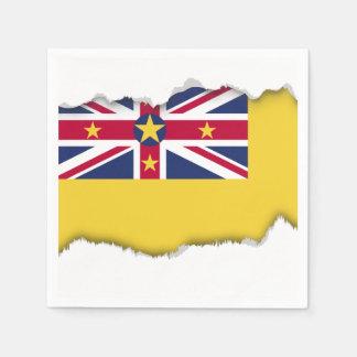 Niue Flag Disposable Serviette