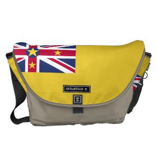 Niue Flag Messenger Bags