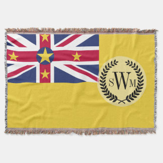 Niue Flag Throw Blanket