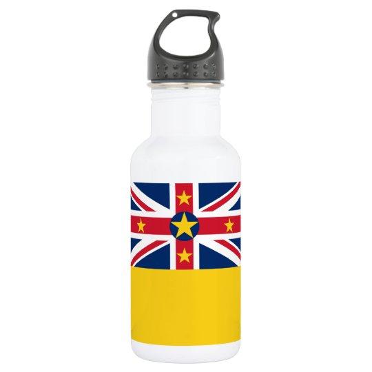 Niue National World Flag 532 Ml Water Bottle