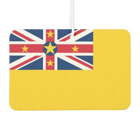 Niue National World Flag Car Air Freshener
