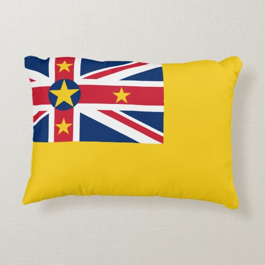 Niue National World Flag Decorative Cushion