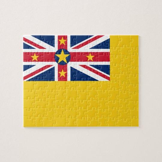 Niue National World Flag Jigsaw Puzzle