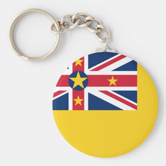 Niue National World Flag Key Ring
