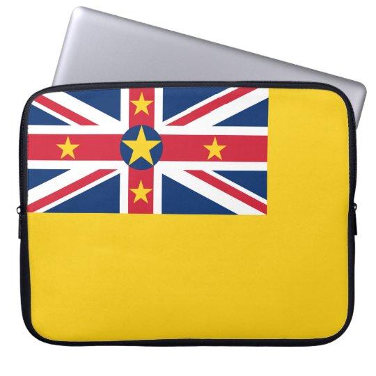 Niue National World Flag Laptop Sleeve