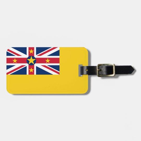 Niue National World Flag Luggage Tag