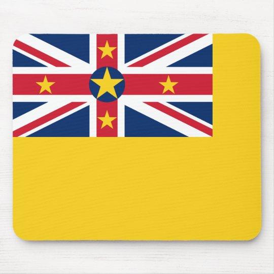 Niue National World Flag Mouse Pad