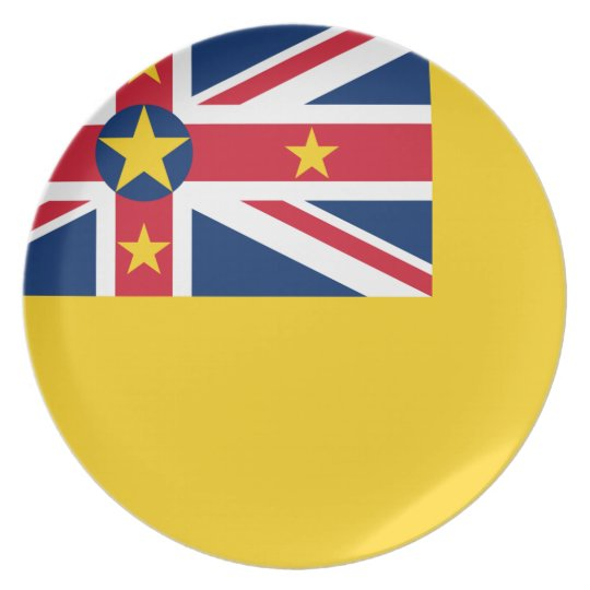 Niue National World Flag Plate