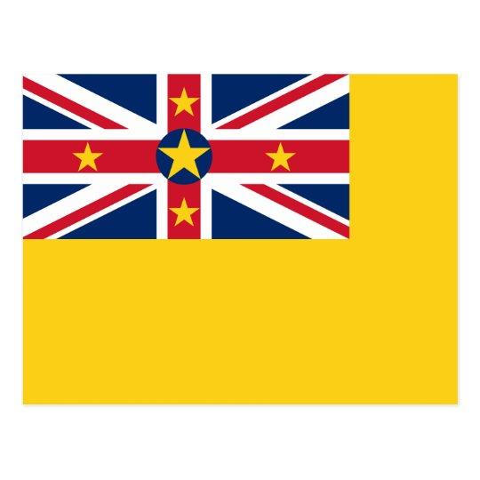 Niue National World Flag Postcard