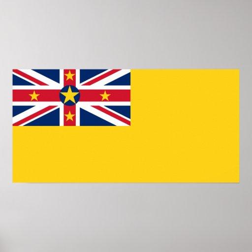 Niue National World Flag Poster