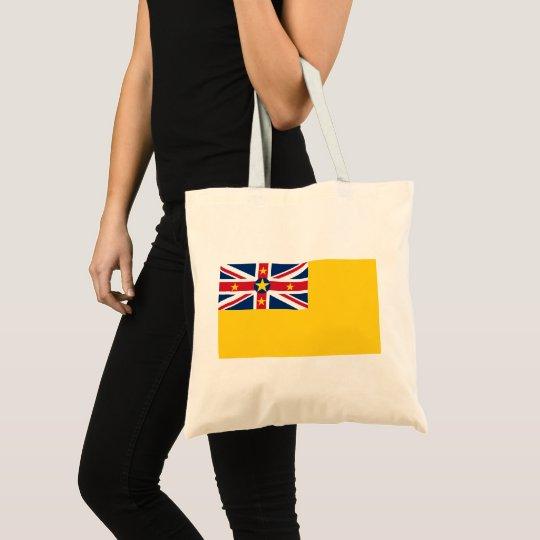 Niue National World Flag Tote Bag