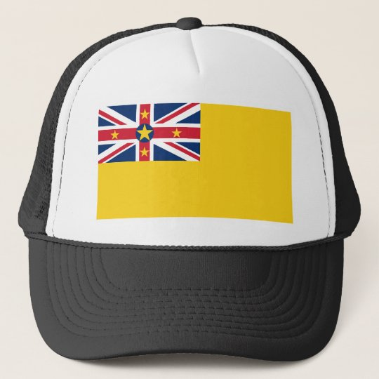 Niue National World Flag Trucker Hat