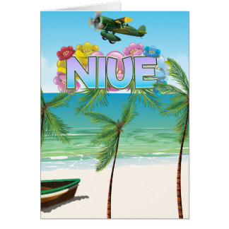 Niue South Pacific travel poster Card