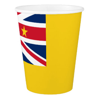 Niuean flag paper cup