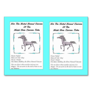Nix The Nickel-Horned Unicorn Trading Card Table Card