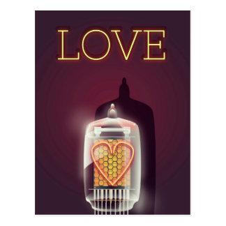 Nixie Tube 'Love' vintage poster Postcard