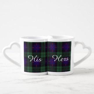 Nixon clan Plaid Scottish kilt tartan Lovers Mug Sets