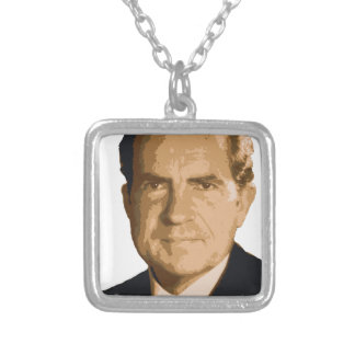 Nixon Head Silver Plated Necklace