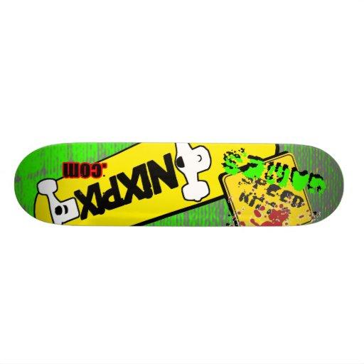Nixpix Logo Board with Speed Kills Skate Board Deck