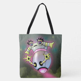 NIXXIE CUTE ROBOT CARTOON TOTE BAG