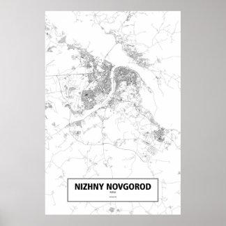 Nizhny Novgorod, Russia (black on white) Poster