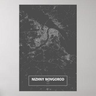 Nizhny Novgorod, Russia (white on black) Poster