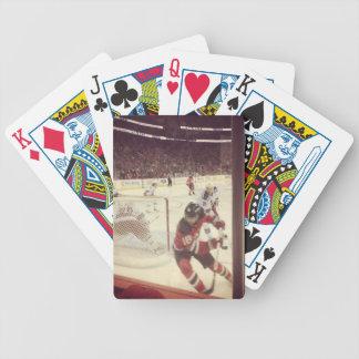 NJ Devils vs. Rangers playing cards