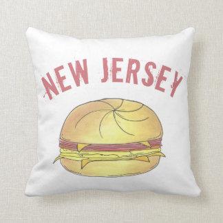 NJ New Jersey Pork Roll Breakfast Egg Sandwich Cushion