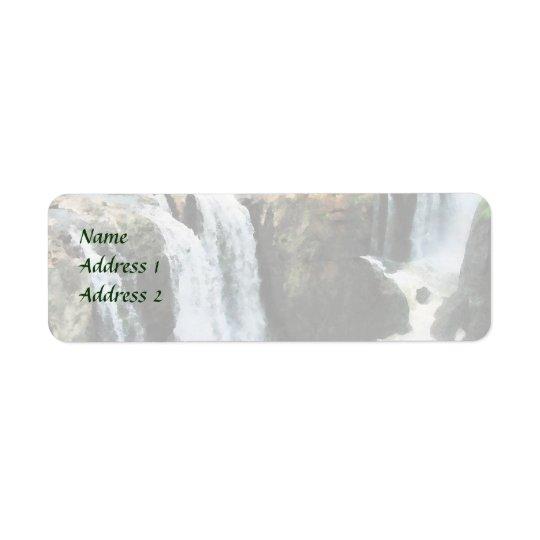 NJ - Waterfall Paterson NJ Wedding Supplies Return Address Label
