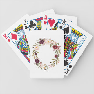 NJCO Flower Wreaths Bicycle Playing Cards