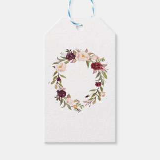 NJCO Flower Wreaths Gift Tags