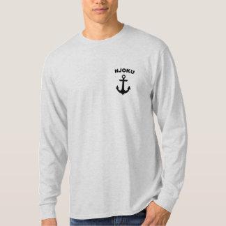 Njoku 'Anchor' Logo Long Sleeve Ash T-Shirt. T Shirts