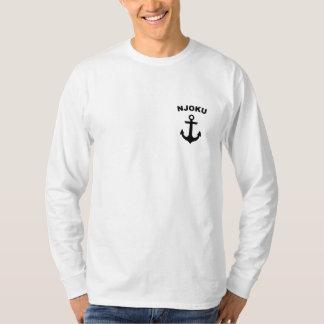 Njoku 'Anchor' Logo Long Sleeve T-Shirt. T-shirts